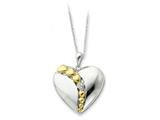 Sentimental Expressions(tm) Sterling Silver and Gold-plated I Love You More Each Day 18 Inch Necklace style: QSX215