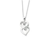 Sentimental Expressions(tm) Sterling Silver and CZ To My Sister 18 Inch Heart Necklace