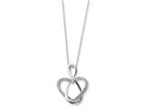 Sentimental Expressions(tm) Sterling Silver and CZ Lifetime Friend 18 Inch Necklace