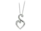 Sentimental Expressions(tm) Sterling Silver and CZ Journey of Friendship 18 Inch Necklace style: QSX237