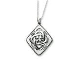 Sentimental Expressions(tm) Sterling Silver Antiqued Family Blessings 18 Inch Necklace