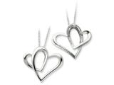Sentimental Expressions(tm) Sterling Silver Daughter A Part of My Heart 18 Inch Necklace style: QSX247