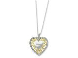 Sentimental Expressions(tm) Sterling Silver and Gold-plated Sister 18 Inch Heart Necklace