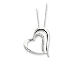 Sentimental Expressions(tm) Sterling Silver and CZ Polished A Restored Heart 18 Inch Necklace
