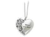 Sentimental Expressions(tm) Sterling Silver Antiqued Bless Your Heart 18 Inch Necklace style: QSX261