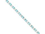 Sterling Silver Bluetopaz and Cubic Zirconia Bracelet style: QX158BT
