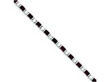 Sterling Silver Garnet and Cubic Zirconia Bracelet style: QX173GA