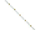 Sterling Silver Citrine Bracelet style: QX194CI