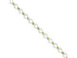 Sterling Silver Citrine Bracelet style: QX199CI
