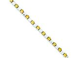 Sterling Silver Citrine and Cubic Zirconia Bracelet style: QX202CI
