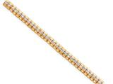 Sterling Silver and Vermeil Cubic Zirconia Bracelet style: QX21CZ