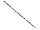 Sterling Silver Purple and Clear Cubic Zirconia Bracelet style: QX225CZ