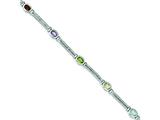 Sterling Silver Multi-color Semi-precious Bracelet style: QX326RB