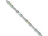 Sterling Silver 7inch Multi-color Semi-precious Stone Bracelet style: QX329RB