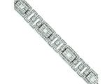 Sterling Silver Pave Cubic Zirconia Bracelet style: QX392CZ