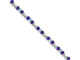 Sterling Silver Amethyst And Blue Topaz Bracelet style: QX478AM