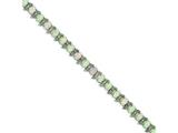 Sterling Silver 7inch Created Opal And Diamond Bracelet style: QX482D