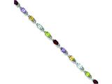 Sterling Silver 7inch Semi-precious and Diamond Bracelet style: QX508D