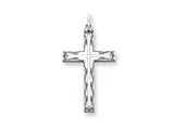 Sterling Silver Laser Designed Cross Pendant - Chain Included style: QXR102