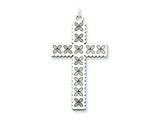 Sterling Silver Laser Designed Cross Pendant - Chain Included style: QXR108
