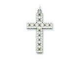 Sterling Silver Laser Designed Cross Pendant - Chain Included style: QXR109