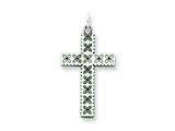 Sterling Silver Laser Designed Cross Pendant - Chain Included style: QXR110
