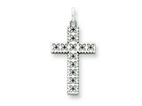 Sterling Silver Laser Designed Cross Charm style: QXR111