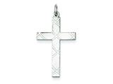 Sterling Silver Laser Designed Cross Pendant - Chain Included style: QXR261