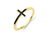 14k Antiqued Sideways Cross Ring style: R1784