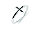 14k White Gold Antiqued Sideways Cross Ring style: R1785