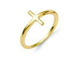 14k Sideways Cross Ring style: R1787