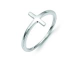 14k White Gold Sideways Cross Ring style: R1788