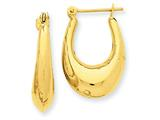 14k Polished Hoop Earrings style: S1511