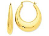 14k Polished Hoop Earrings style: S1512