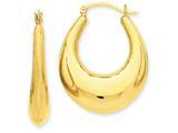 14k Polished Hoop Earrings style: S1513