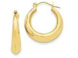 14k Polished Hoop Earrings style: S1565