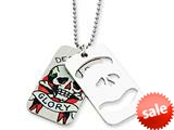 Ed Hardy Death and Glory 2-piece Dog Tag Painted Necklace style: EHF101