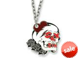 Ed Hardy Sex and Sin Skull Painted Necklace style: EHF109