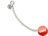 Stainless Steel Ed Hardy Pol Link w/Heart Charm Toggle Bracelet style: EHF116