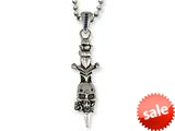 Stainless Steel Ed Hardy Skull Dagger Necklace style: EHF124