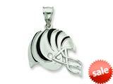 Sterling Silver Cincinnati Bengals Enameled Helmet Charm style: NF2382SS