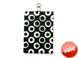 Sterling Silver Black Resin Pendant - Chain Included style: QC6528