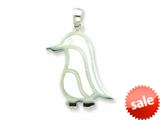 Sterling Silver Resin Penguin Pendant - Chain Included