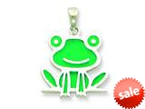 Sterling Silver Resin Frog Pendant - Chain Included style: QC6567