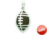 Sterling Silver Resin Football Pendant - Chain Included style: QC6582