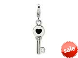 Amore LaVita™ Sterling Silver 3-D Enameled Key w/Lobster Clasp Charm for Charm Bracelet
