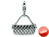 Amore LaVita™ Sterling Silver Purse w/Lobster Clasp Bracelet Charm style: QCC220