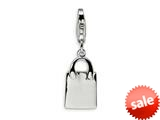 Amore LaVita™ Sterling Silver Small Pocketbook w/Lobster Clasp Charm for Charm Bracelet style: QCC221