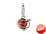 Amore LaVita™ Sterling Silver Enamel Perfume Bottle w/Lobster Clasp Bracelet Charm style: QCC241