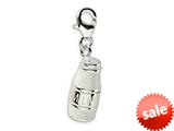 Amore LaVita™ Sterling Silver 3-D Enameled Milk Jug w/Lobster Clasp Bracelet Charm style: QCC360